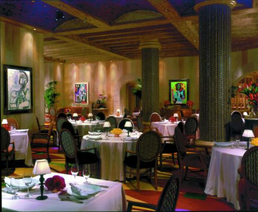 Bellagio Picasso Restaurant with Motorized Shades