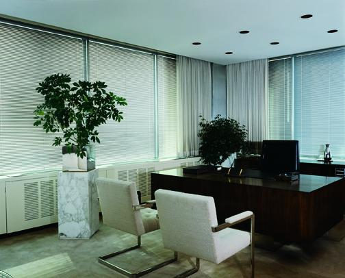 Model 8000 Horizontal Blinds in a Commercial Setting